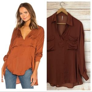 Free People Starry Dreams Pullover Blouse